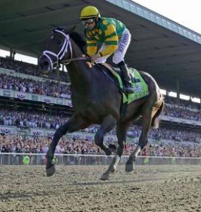 Palace Malice wins the Belmont Stakes, New York
