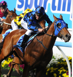 Buffering wins Group 1 Manikato Stakes at Moonee Valley