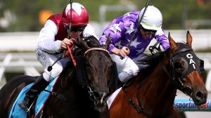 Paximadia wins the G2 Sandown Guineas