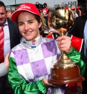 Jockey Michelle Payne wins Melbourne Cup aboard Prince of Penzance